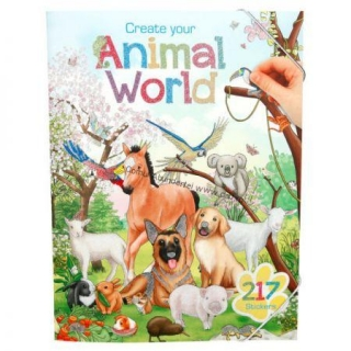 Carte de colorat - Depesche Brand- Create your World Animal