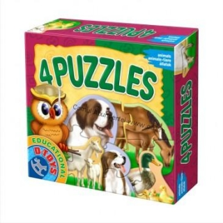 4 Puzzle Animale domestice